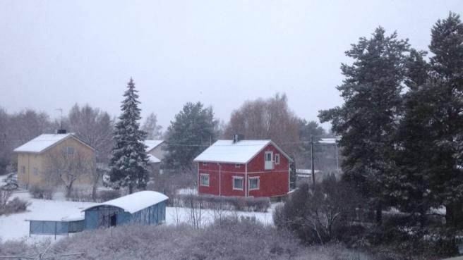 Snowing in Turku